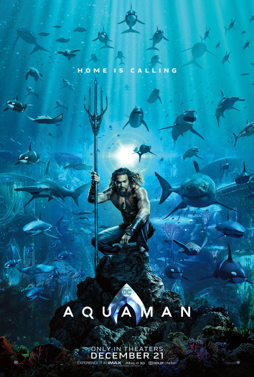 Homes Is Calling in the First  'Aquaman' Teaser Poster