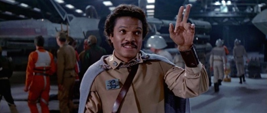 Billy Dee Williams as Lando in Return of the Jedi