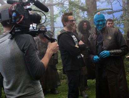 James Gunn & Michael Rooker on set Guardians of the Galaxy Vol. 2