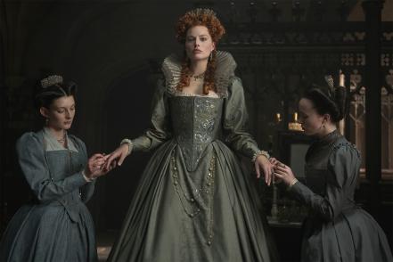 Margot Robbie as Elizabeth I in Mary Queen of Scots