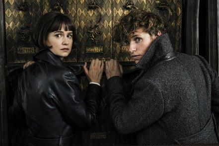 Katherine Waterston & Eddie Redmayne in Fantastic Beasts: The Crimes of Grindelwald