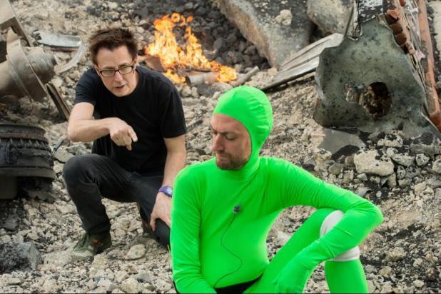 James Gunn & Sean Gunn on set Guardians of the Galaxy