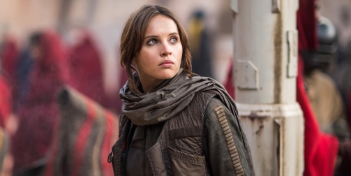 Felicity Jones as Jyn Erso in Rogue One: A Star Wars Story
