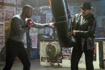 Michael B. Jordan & Sylvester Stallone in Creed II