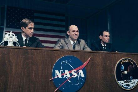 Ryan Gosling, Corey Stoll & Lukas Haas in First Man