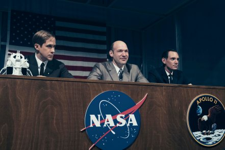 Ryan Gosling, Corey Stoll & Lukas Haas in First Man