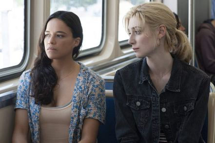 Michelle Rodriguez & Elizabeth Debicki in Widows