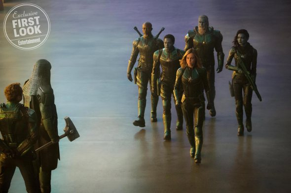 """Meet Starforce, the elite military team on the Kree planet of Hala described by the directors as """"the SEAL Team Six of space."""" In addition to Carol Danvers, its members include Korath (Hounsou) and Minn-Erva (Chan)."""