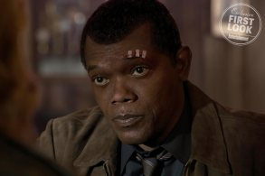 Jackson's ninth appearance as Nick Fury comes with a facelift and a demotion to S.H.I.E.L.D. desk jockey. Not only has he yet to meet any superheroes, he has the use of both of his eyes for once. Time will tell just how he meets his first superhero (perhaps Carol Danvers?) and if that altercation had something to do with him losing his eye…