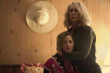 Judy Greer & Jamie Lee Curtis in Halloween