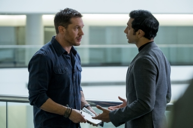 Tom Hardy & Riz Ahmed in Venom