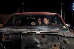Christopher McQuarrie & Tom Cruise on set Jack Reacher