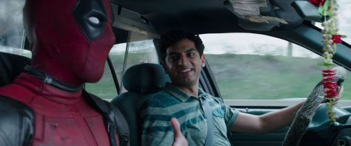 Karan Soni and Ryan Reynolds in Deadpool