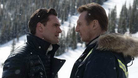 Tom Bateman & Liam Neeson in Cold Pursuit
