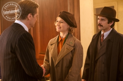 Colin Firth, Emily Mortimer & Ben Whishaw in Mary Poppins Returns