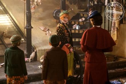 Emily Blunt, Meryl Streep, Pixie Davies, & Nathanael Saleh in Mary Poppins Returns