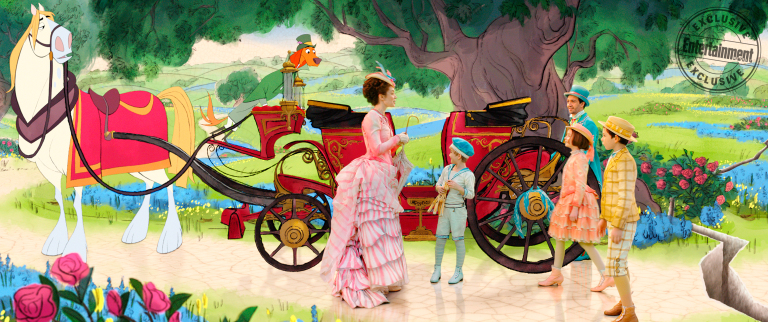 Emily Blunt, Lin-Manuel Miranda, Pixie Davies, Nathanael Saleh & Joel Dawson in Mary Poppins Returns