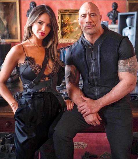 Eiza Gonzalez & Dwayne Johnson for Hobbs & Shaw