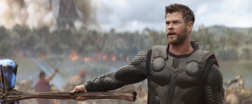 Chris Hemsworth as Thor in Avengers: Infinity War