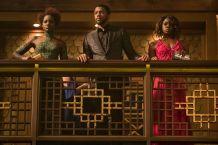 Lupita Nyong'o, Chadwick Boseman & Dania Gurira in Black Panther