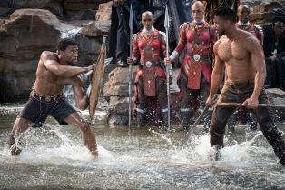 Chadwick Boseman & Michael B. Jordan in Black Panther