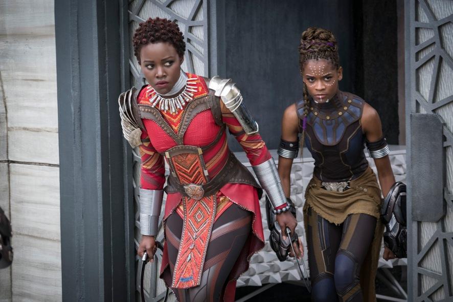 Lupita Nyong'o & Letita Wright in Black Panther