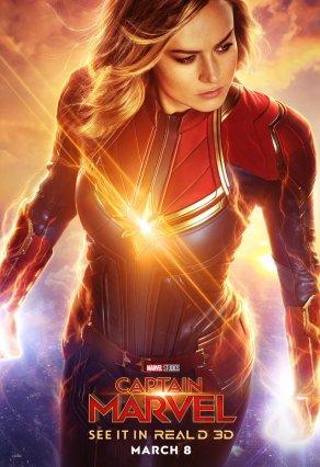 Captain Marvel REALD 3D Poster