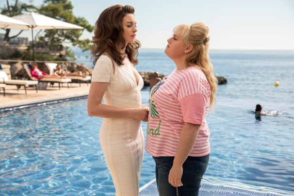 Anne Hathaway & Rebel Wilson in The Hustle