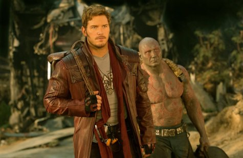 Chris Pratt & Dave Bautista in Guardians of the Galaxy Vol. 2