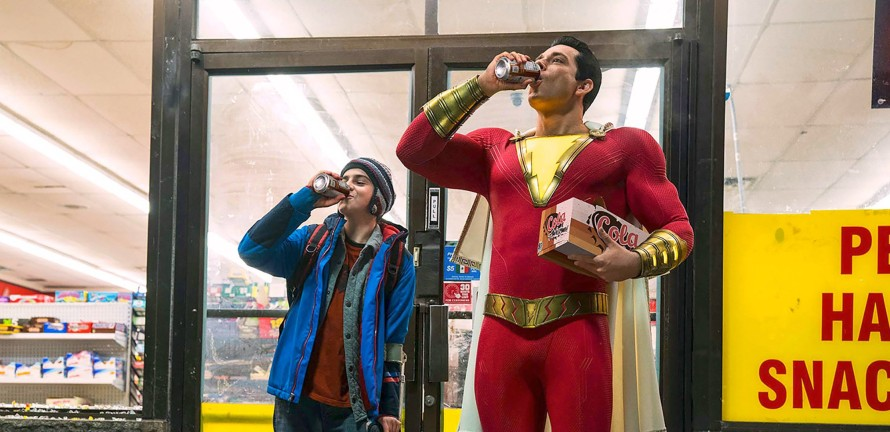 Jack Dylan Grazer & Zachary Levi in Shazam!