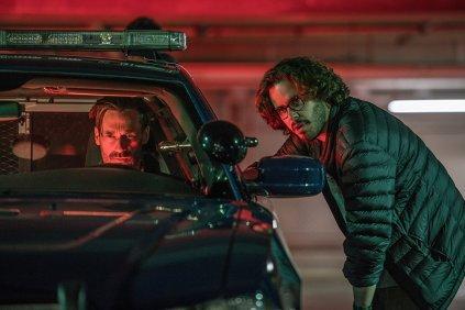 Jon Hamm & Egar Wright on set Baby Driver
