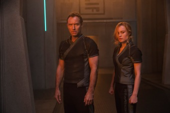 Jude Law & Brie Larson in Captain Marvel