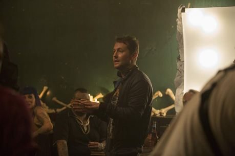 Leigh Whannell on set Upgrade