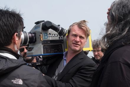 Christopher Nolan on set Dunkirk