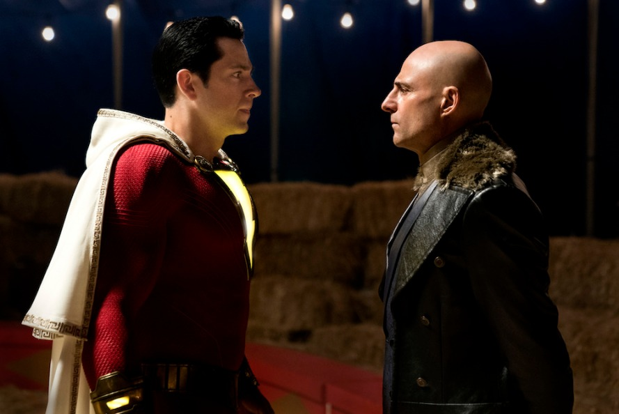 Zachary Levi & Mark Strong in Shazam!