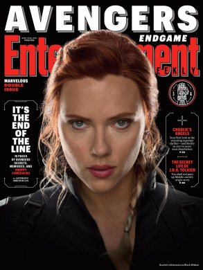 Avengers: Endgame Black Widow EW Cover