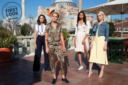Kristen Stewart, Naomi Scott, Ella Balinska and Elizabeth Banks for Charlie's Angels