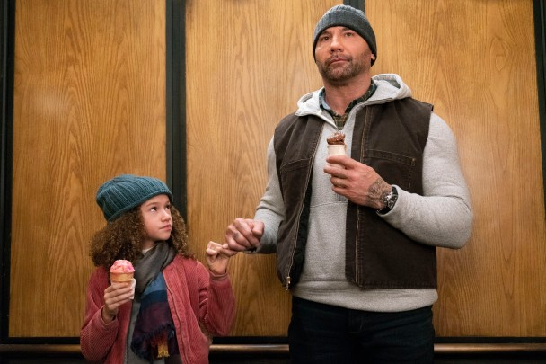 Chloe Coleman & Dave Bautista in My Spy