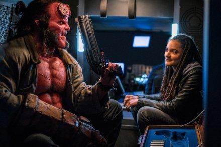David Harbour & Sasha Lane in Hellboy