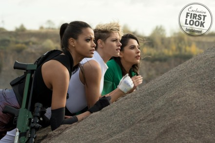 Ella Balinska, Kristen Stewart and Naomi Scott star in Charlie's Angels
