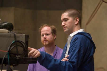 Joss Whedon & Drew Goddard on set The Cabin in the Woods