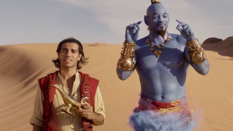 Mena Massoud Will Smith Aladdin Genie